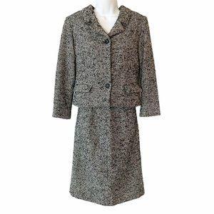 Vintage Tweed Skirt & Jacket Blazer Suit Set 1960s